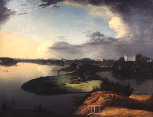 View from Bordentown Hill on the Delaware (Point Breeze) by Charles B. Lawrence.