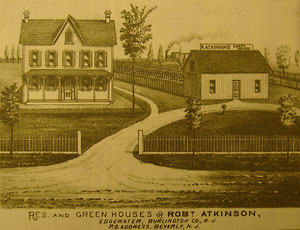 Robert Atkinson started a nursery business in Edgewater Park