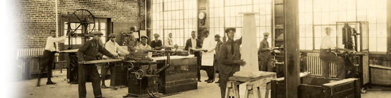 Vocational training included woodworking. Credit: New Jersey State Archives, Department of State. Credit: New Jersey State Archives, Department of State