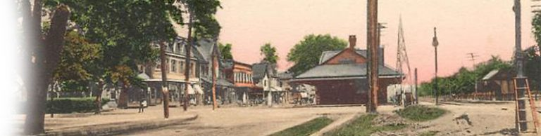 A 1914 postcard view of Broad Street, Palmyra. Credit: Historical Society of Riverton