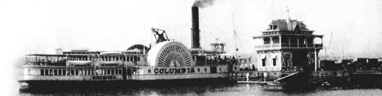 The steamer Columbia at Riverton pier.